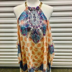 NWT Paisley print asymmetrical dress